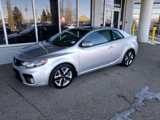 Used 2013 Kia Forte Koup SX; BLUETOOTH, HEATED SEATS, LEATHER, SUNROOF AND MORE for sale in Edmonton, AB