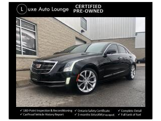 Used 2015 Cadillac ATS Performance AWD!! MORELLO RED INTERIOR, NAVIGATION for sale in Orleans, ON