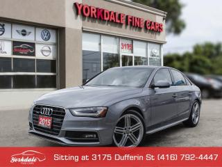 Used 2015 Audi A4 TFSI Progressiv +, S Line, Navigation, Camera, Parktronic for sale in Toronto, ON