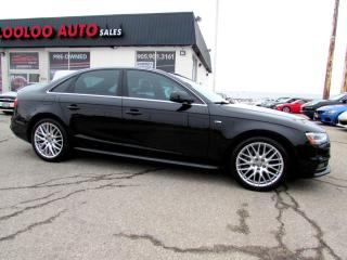 Used 2014 Audi A4 2.0T Progressiv Quattro S-Line Manual NAVI CAMERA CERTIFIED for sale in Milton, ON