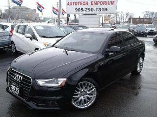 Used 2015 Audi A4 2.0T Quattro Komfortline Leather/Sunroof&GPS* for sale in Mississauga, ON