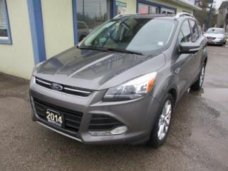 Used 2014 Ford Escape FOUR-WHEEL DRIVE TITANIUM MODEL 5 PASSENGER 2.0L - ECO-BOOST.. LEATHER.. HEATED SEATS.. NAVIGATION.. SUNROOF.. BACK-UP CAMERA.. NAVIGATION.. for sale in Bradford, ON