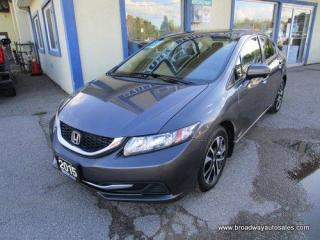 Used 2015 Honda Civic WELL EQUIPPED LX EDITION 5 PASSENGER 1.8L - SOHC.. ECON-BOOST-PACKAGE.. POWER SUNROOF.. BACK-UP CAMERA.. BLUETOOTH SYSTEM.. KEYLESS ENTRY & START.. for sale in Bradford, ON