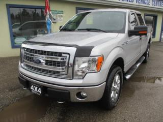 Used 2014 Ford F-150 WORK READY XLT MODEL 5 PASSENGER 5.0L - V8.. 4X4.. CREW.. SHORTY.. LEATHER.. BACK-UP CAMERA.. CD/AUX/USB INPUT.. BLUETOOTH.. for sale in Bradford, ON