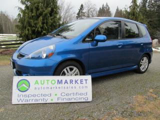 Used 2007 Honda Fit SPORT, 6sp, INSP, BCAA MBSHP, WARR, FINANCE for sale in Langley, BC