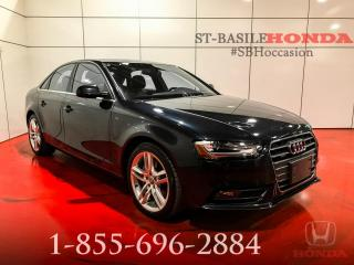 Used 2013 Audi A4 PREMIUM PLUS + NAVI + TRÈS BAS KILO !! for sale in St-Basile-le-Grand, QC