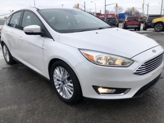 Used 2015 Ford Focus Titanium! NAV! Sunroof, Leather, Heated Steering, Heated Seats, BackupCam, AUTOSTART, Bluetooth, All for sale in Kemptville, ON