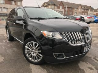 Used 2013 Lincoln MKX Accident Free|Navi|Leather|Moonroof|Blind spot for sale in Burlington, ON