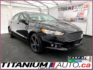 Used 2016 Ford Fusion SE-GPS-Camera-Sunroof-Brown Leather Heated Seats- for sale in London, ON