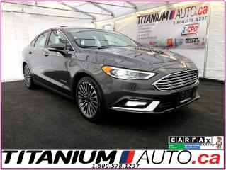 Used 2018 Ford Fusion Titanium-Hybird-GPS-Camera-Sunroof-Vented Leather- for sale in London, ON