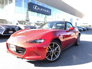 Used 2016 Mazda Miata MX-5 GT 6sp Black Leather NO Accidents, Local, LOW KM for sale in North Vancouver, BC