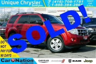 Used 2012 Ford Escape XLT| 4WD| CANADIAN COMFORT PKG| REMOTE START for sale in Burlington, ON