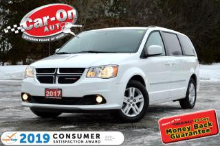 Used 2017 Dodge Grand Caravan Crew LEATHER REAR CAM HTD SEATS FULL PWR GRP for sale in Ottawa, ON
