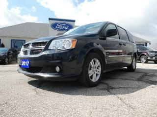 Used 2017 Dodge Grand Caravan Crew Plus- LEATHER- POWER DOORS- BACKUP CAM for sale in Essex, ON