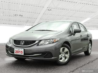 Used 2015 Honda Civic LX Sold Pending Customer Pick Up...OUR USED VEHICLE SALES TEAM IS NOW LOCATED IN THE MAIN BUILDING FACI for sale in Waterloo, ON
