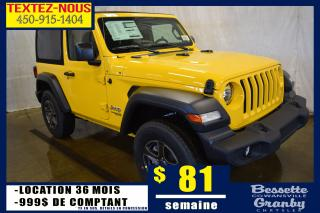 Used 2019 Jeep Wrangler Sport +temps Froid for sale in Granby, QC
