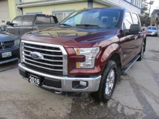 Used 2016 Ford F-150 WORK READY XLT MODEL 5 PASSENGER 2.7L - ECO-BOOST.. 4X4.. CREW.. SHORTY.. NAVIGATION.. POWER PEDALS.. BACK-UP CAMERA.. BLUETOOTH.. for sale in Bradford, ON