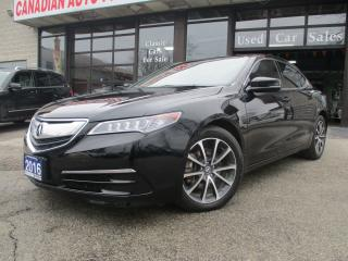 Used 2016 Acura TLX V6-SH-AWD -LETHER-ROOF-CAMERA-ALLOYS-BLUETOOTH for sale in Scarborough, ON