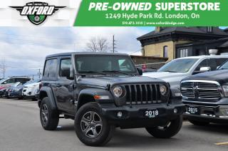 Used 2018 Jeep Wrangler Sport - 4x4, Bluetooth, Back Up Cam for sale in London, ON