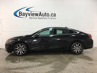 Used 2018 Chevrolet Malibu - BLK ON BLK! LTHR! NAV! PANOROOF! for sale in Belleville, ON