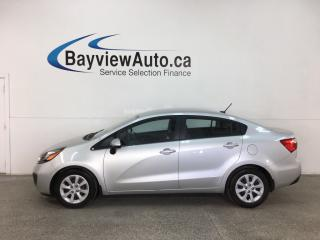Used 2015 Kia Rio LX+ - 32,000KMS! AUTO! A/C! PWR GROUP! MINT! for sale in Belleville, ON