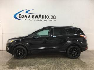 Used 2018 Ford Escape Titanium - HTD LTHR! PANOROOF! NAV! BLACK WHEELS! for sale in Belleville, ON
