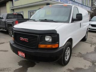 Used 2015 GMC Savana 1-TON CARGO MOVING 2 PASSENGER 4.8L - VORTEC.. SHELVING.. DIVIDER.. TOW SUPPORT.. AUX INPUT.. AIR CONDITIONING.. for sale in Bradford, ON