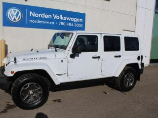 Used 2014 Jeep Wrangler Unlimited RUBICON 4X4 - LEATHER / HARD TOP / AUTO for sale in Edmonton, AB