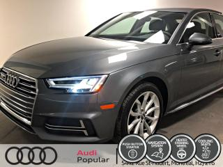 Used 2018 Audi A4 Progressiv 2.0 TFSI quattro S tronic for sale in Montréal, QC