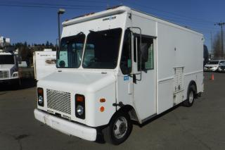 Used 2003 Workhorse P42 Grumman Olson 14 Foot Cargo Van with Rear Shelving and Generator for sale in Burnaby, BC