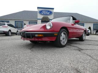 Used 1989 Alfa Romeo Spider Graduate -LEATHER- LOW MILES- CONVERTIBLE for sale in Essex, ON