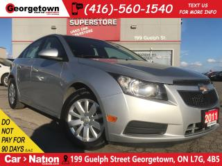 Used 2011 Chevrolet Cruze LT Turbo | ONLY 110KM | PWR GROUP | CLEAN CARFAX for sale in Georgetown, ON