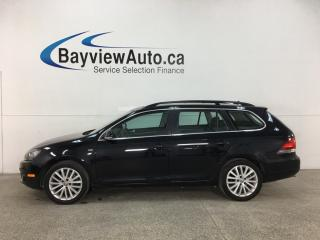 Used 2014 Volkswagen Golf 2.0 TDI Wolfsburg Edition - HTD LTHR! NAV! PANOROOF! LOW KMS! for sale in Belleville, ON