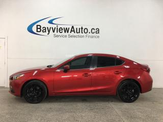 Used 2016 Mazda MAZDA3 GT - 6SPD! NAV! LTHR! SUNROOF! 15,000KMS! for sale in Belleville, ON