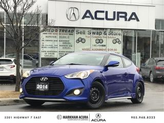 Used 2014 Hyundai Veloster Turbo at Tech Pkg, A/S Tires   Rims, Navi, Park Sensors for sale in Markham, ON