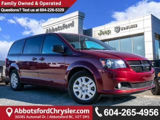 Used 2017 Dodge Grand Caravan CVP/SXT - Locally Driven - Accident Free for sale in Abbotsford, BC