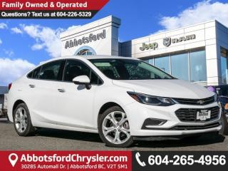 Used 2018 Chevrolet Cruze Premier Auto *ACCIDENT FREE* *LOCALLY DRIVEN* for sale in Abbotsford, BC