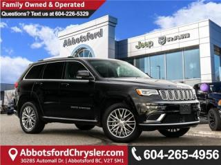 Used 2018 Jeep Grand Cherokee Summit *ACCIDENT FREE* *LOCALLY DRIVEN* for sale in Abbotsford, BC