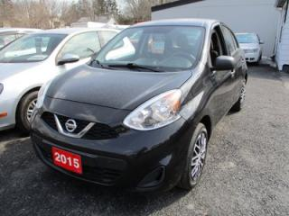 Used 2015 Nissan Micra 'GAS MISER' BASE MODEL 5 PASSENGER 1.6L - 4 CYL.. 5 SPEED MANUAL TRANSMISSION.. CLOTH INTERIOR.. AM/FM/CD PLAYER.. AUX INPUT for sale in Bradford, ON