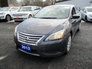 Used 2013 Nissan Sentra 'GREAT VALUE' SV MODEL 5 PASSENGER 1.8L - DOHC.. CLOTH.. BLUETOOTH.. CD/AUX/USB.. KEYLESS START.. for sale in Bradford, ON