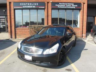 Used 2007 Infiniti G35 S Sedan -S TECH PACKAGE, ONLY $6,995+HST+Lic / CLEAN CARFAX for sale in North York, ON