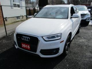 Used 2015 Audi Q3 LOADED 2.0T TECHNIK TFSI QUATTRO MODEL.. 2.0L - DOHC.. AWD.. LEATHER.. HEATED SEATS.. NAVIGATION.. BLUETOOTH.. POWER PANO SUNROOF.. BACK-UP CAMERA.. for sale in Bradford, ON