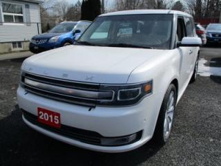 Used 2015 Ford Flex ALL-WHEEL DRIVE LIMITED EDITION 7 PASSENGER 3.5L - V6.. 3RD ROW SEATING.. LEATHER.. HEATED/COOLED SEATS.. SONY AUDIO.. SUNROOF.. BACK-UP CAMERA.. for sale in Bradford, ON