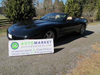 Used 2001 Chevrolet Corvette AUTO, LOADED, INSP, FREE BCAA MBSHP, FREE WARRANTY for sale in Surrey, BC