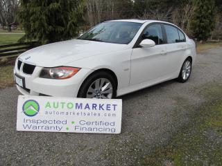 Used 2007 BMW 323i AUTO, SUNROOF, INSP, BCAA MBSHP, FREE WARR, FINANCE for sale in Surrey, BC