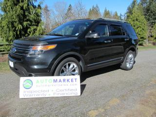 Used 2012 Ford Explorer Limited, 4WD, LOADED, INSP, FREE BCAA MBSHP, FREE WARR, FINANCE for sale in Surrey, BC