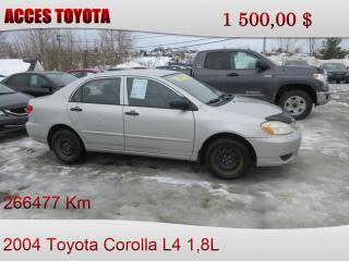 Used 2004 Toyota Corolla for sale in Rouyn-Noranda, QC