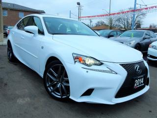 Used 2014 Lexus IS 250 F-SPORT | NAVIGATION.CAMERA.LEATHER.ROOF.R-STARTER for sale in Kitchener, ON