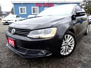 Used 2012 Volkswagen Jetta TDI Highline Navi Leather Sunroof Certified for sale in Guelph, ON