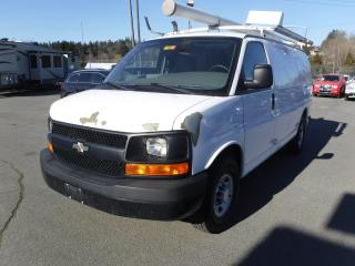 Used 2009 Chevrolet Express 2500 Cargo Van with Ladder Rack and Rear Shelving for sale in Burnaby, BC